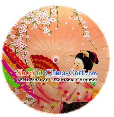Asian Dance Umbrella China Handmade Traditional Geisha Umbrellas Stage Performance Umbrella Dance Props