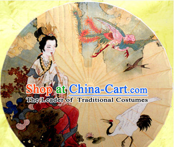 Traditional Rainproof Handmade Chinese Classic Oil Paper Umbrellas China Dance Umbrella Stage Performance Umbrella Dancing Props