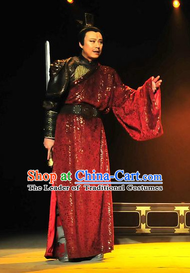 China Ancient Tang Dynasty General Minister Opera Costume Drama Stage Costumes Complete Set