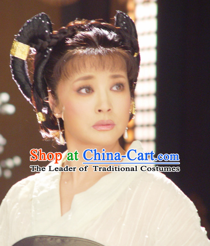 China Ancient Tang Dynasty Palace Black Wigs Headpieces