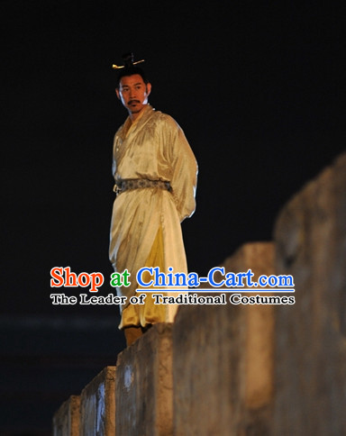 9f555285a8 Chinese Ancient Tang Dynasty Emperor Pajamas Sleepcoat Nightgown Complete  Set for Men