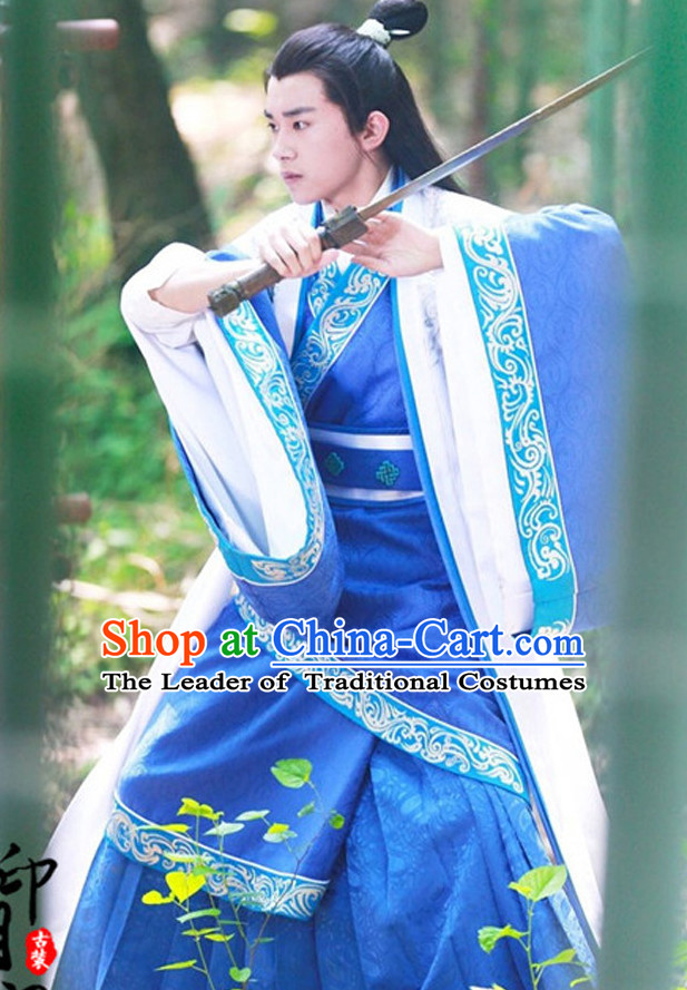 Ancient Chinese Prince Man Costumes Costume Traditional Chinese Fairy Hanfu Han Fu Costumes Ancient Cosplay Complete Set