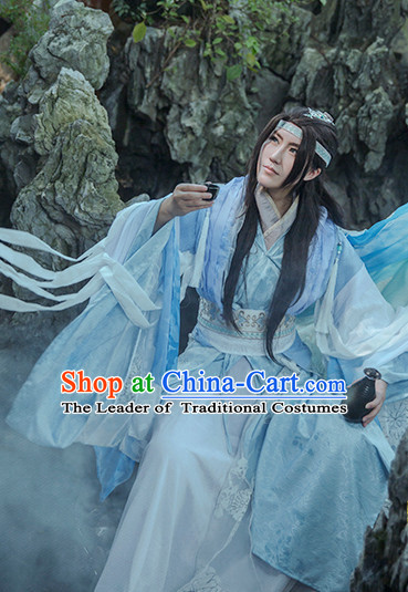 Chinese Hanfu Robe Clothing Handmade Bjd Dress Opera Costume Drama Costumes Complete Set
