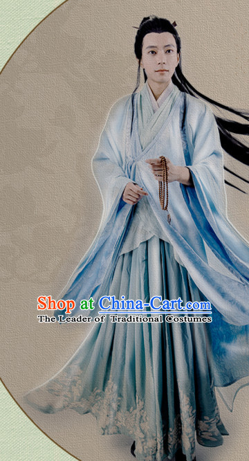 Chinese Prince Hanfu Robe Swords Clothing Handmade Bjd Dress Opera Costume Drama Costumes Complete Set