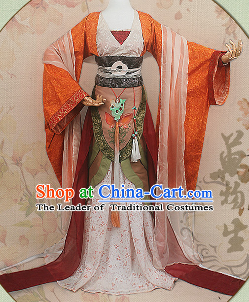 Chinese Hanfu Noblewoman Robe Clothing Handmade Bjd Dress Opera Costume Drama Costumes Complete Set