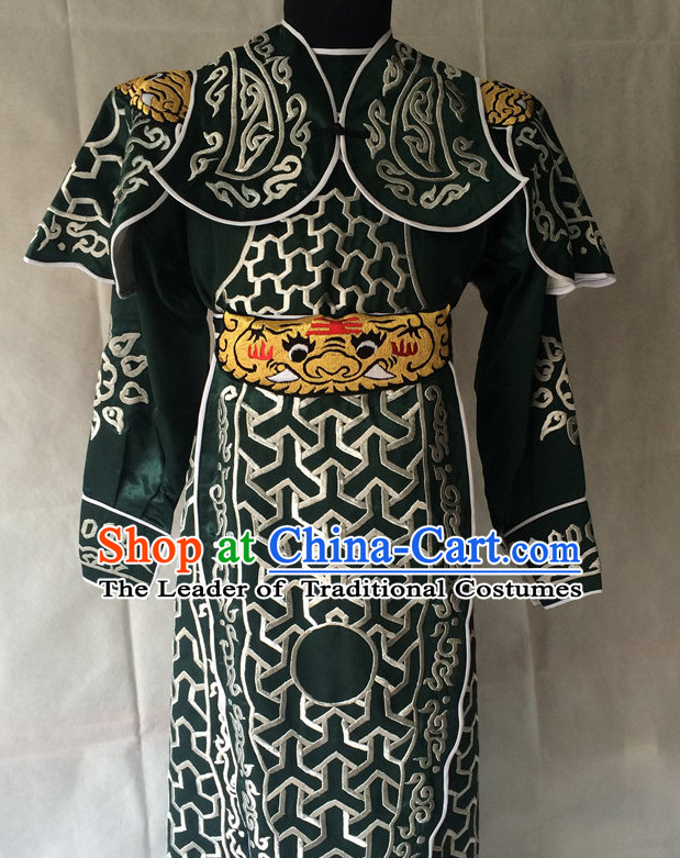 China Beijing Opera Men General Costume Embroidered Robe Stage Costumes Complete Set