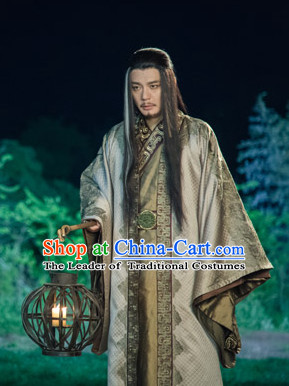 dd8df6bf2 Chinese Ancient Swordsman Kung Fu Master Costumes Complete Set for Men