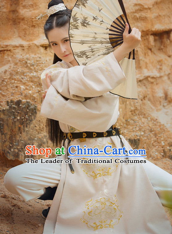 Chinese Traditional Tang Dynasty Men Royal Stage Hanfu Hanbok Kimono Feitian Costume Dresses Costume Ancient Fairy Garment and Headpieces Complete Set