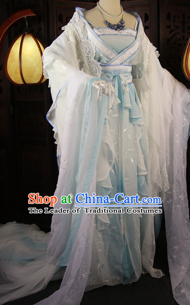 Chinese Traditional Royal Stage Hanfu Hanbok Kimono Costume Dresses Costume Ancient Garment Complete Set