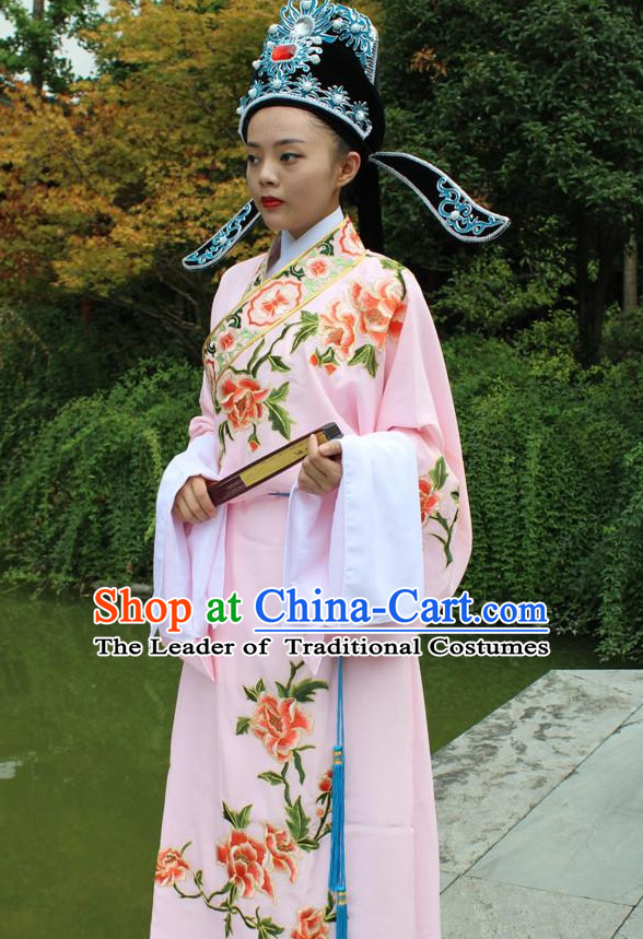 Chinese Opera Stage Costume Embroidered Hanfu Dress Gown Costumes Ancient Costume Clothing Complete Set
