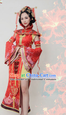 Chinese Empress Cos Costume Embroidered Women Hanfu Dress Gown Costumes Ancient Costume Clothing Complete Set