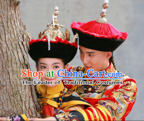 Chinese Qing Dynasty Emperor and Empress Imperial Hats