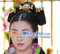 Chinese Ancient Female Princess Coronet Crown Hair Decoration Head Comb Wedding Hair Hairpin Accessories