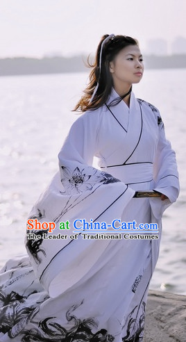 Ancient Chinese Women Dresses Traditional Royal Stage Hanfu Classical Dress Costumes Clothing Complete Set