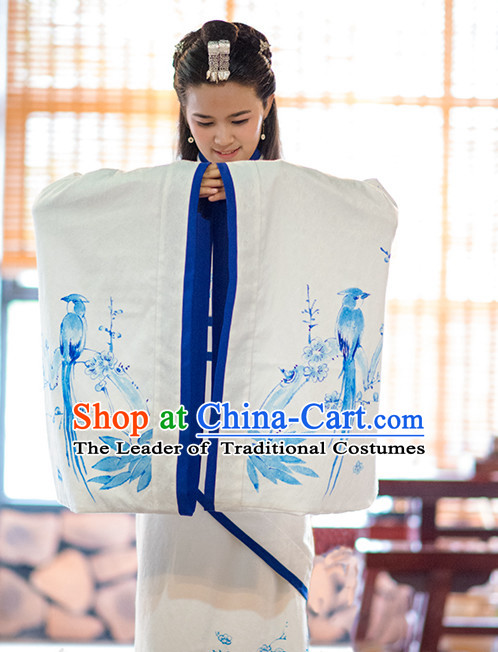 Ancient Chinese Princess Quju Dresses Traditional Royal Stage Hanfu Classical Dress National Costumes Clothing and Hair Jewelry Complete Set