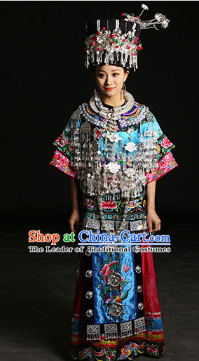Chinese Miao Clothing Miao Clothes Minority Dresses Ethnic Costumes Complete Set for Women