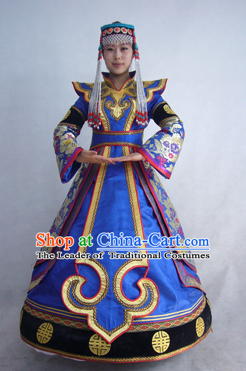 Chinese Mongolian Minority Mongol Princess Dress Mongolia Minority Dresses Ethnic Mongolian Costume Complete Set for Women