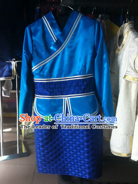 Chinese Mongolian Minority Mongol Women and Men Dress Mongolia Minority Dresses Ethnic Mongolian Costume Complete Set
