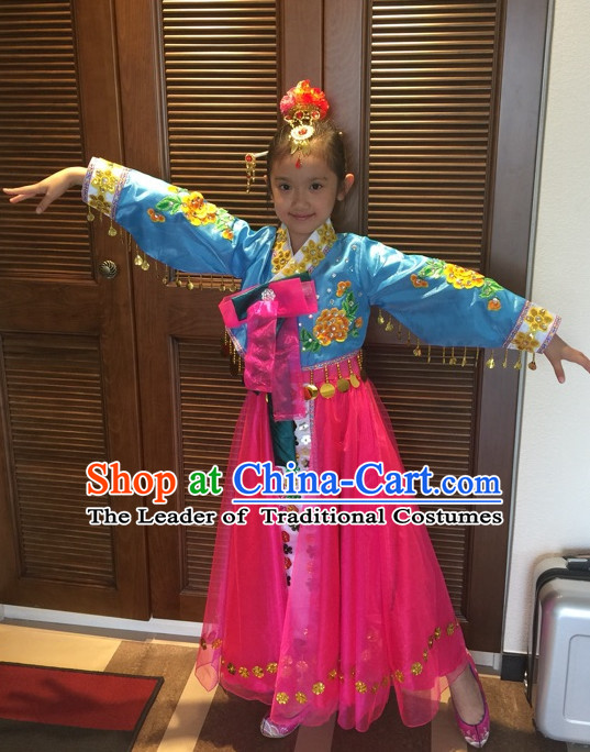 Chinese Korean Minority Dance Costume Dance Costumes Fan Dance Umbrella Ribbon Fans Dance Fan Water Sleeve Costume