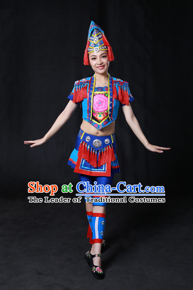 Minority Women Dresses Ethnic Clothing Minority Hmong Dance Costume Minority Dress