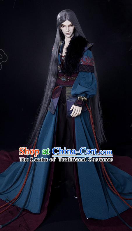Ancient Chinese Knight Samurai Men Costumes Clothing Traditional Costumes Hanfu Complete Set
