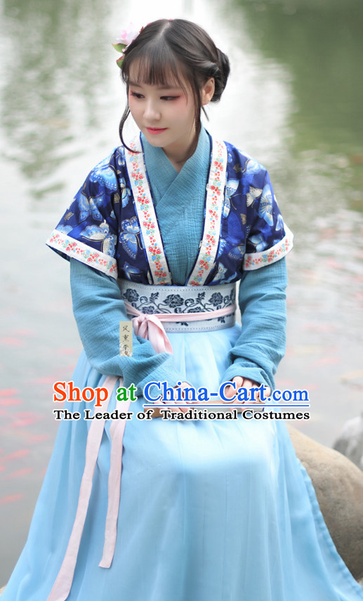 Chinese Clothes Classical Dance Drama Performance Hanfu Chinese Hakama Traditional Dress Quju Supreme Ancient Chinese Costume Complete Set