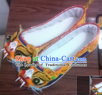 Chinese Tiger Shoes Wedding Shoes Kung Fu boots Wushu Shoes Mens Shoes Opera Shoes Hanfu Shoes Embroidered Shoes Monk Shoes