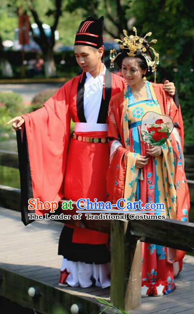 Traditional Chinese Ancient Tang Dynasty Clothing Imperial Wedding Dresses Beijing Classical Chinese Bridal Clothing for Bridegrooms