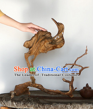 Chinese Hand Carved Tree Root Crane Bird Arts