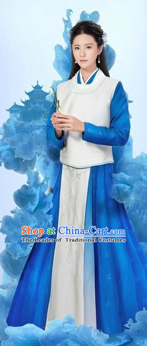 Ancient Chinese Female Official Clothing and Hair Accessories Complete Set for Women