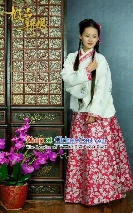 Traditional Chinese Costume Chinese Ancient Women Dress, Ming Dynasty Royal Princess Costume for Women