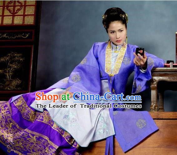 Traditional Chinese Costume Chinese Ancient Old Women Dress, Ming Dynasty Royal Queen Costume for Women