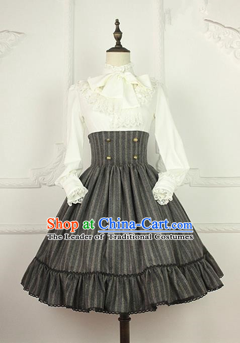 Traditional Classic Women Clothing, Traditional Classic High Waist Fishbone Skirt Dress, British Restoring Ancient Short Skirt for Women