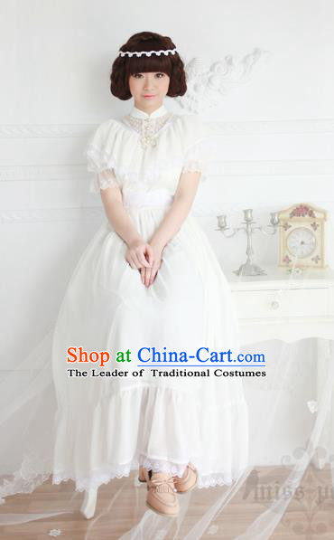Traditional Classic Women Clothing, Traditional Classic Palace Lace Short-Sleeved Dress Long Skirts for Women