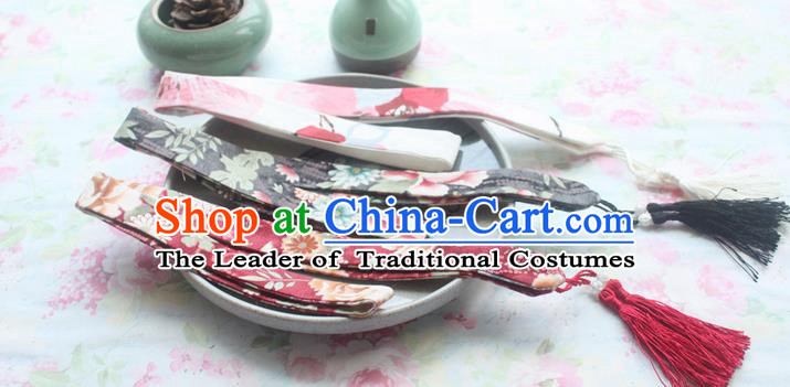 Traditional Japanese Restoring Ancient Kimono Headbands, China Headwear Hair Accessories Tassel Hair Band for Women
