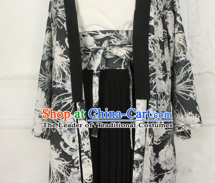 Traditional Japanese Restoring Ancient Kimono Wide Belt, China Kimono improved Double Waist Closure for Women