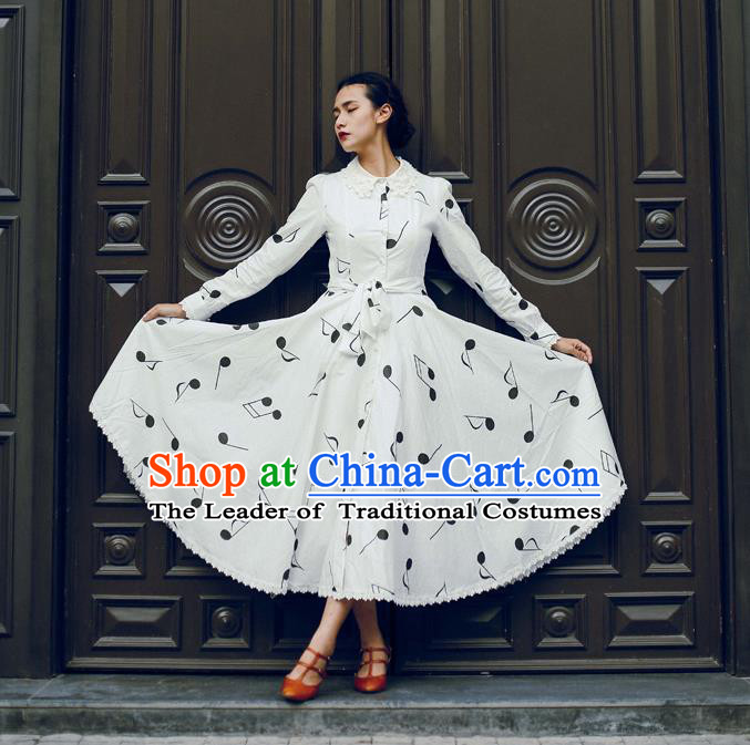 Traditional Classic Elegant Women Costume Sanding One-Piece Dress, Restoring Ancient Princess Giant Swing Long Skirt for Women