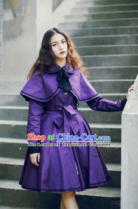 Traditional Classic Elegant Women Costume Complete Set Cloak and Dust Coat, Restoring Ancient Cape and Coat for Women