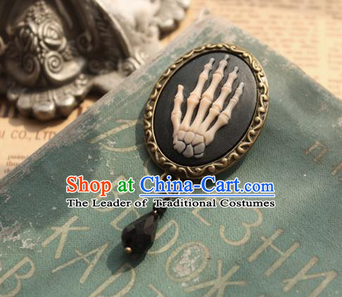 Traditional Classic Ancient Jewelry Accessories Restoring Brooch, Elegant Gothic Relief Breastpin for Women