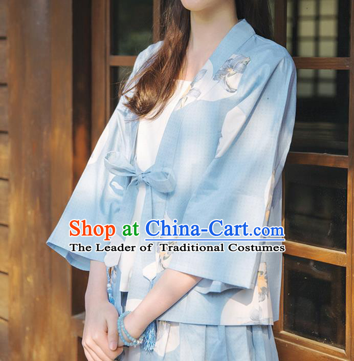 Traditional Japanese Restoring Ancient Kimono Costume Haori Smock, China Kimono Modified Coat Short Cardigan for Women