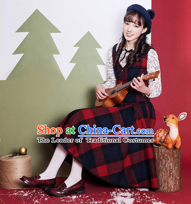 Traditional Classic Elegant Women Costume Woolen Bust Skirt, Restoring Ancient Princess Wool Giant Swing Skirt for Women