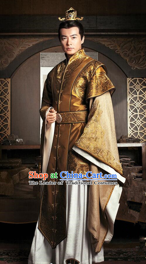 Traditional Chinese Ancient Men Costumes, Ancient Chinese Cosplay General Swordsmen Prince Costume Armour Complete Set for Men