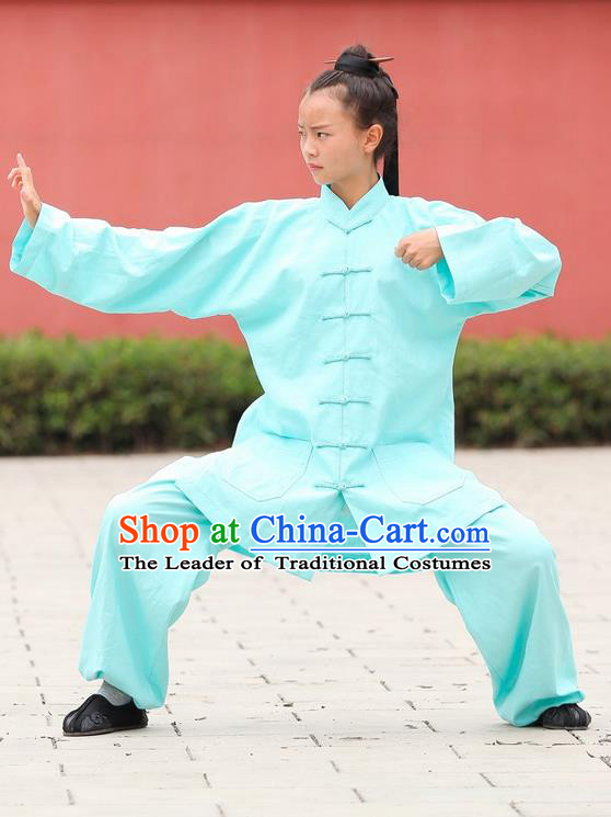 Traditional Chinese Wudang Uniform Taoist Nun Uniform Kungfu Kung Fu Clothing Clothes Pants Shirt Supplies Wu Gong Outfits, Chinese Tang Suit Wushu Clothing Tai Chi Suits Uniforms for Women
