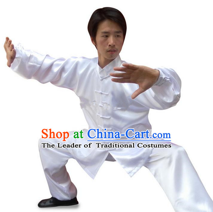 Traditional Chinese Wudang Uniform Taoist Uniform Changeable Silk Priest Frock Kungfu Kung Fu Clothing Clothes Pants Slant Opening Shirt Supplies Wu Gong Outfits, Chinese Tang Suit Wushu Clothing Tai Chi Suits Uniforms for Men