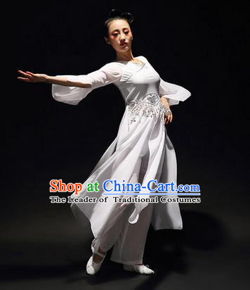 Traditional Chinese Classical Yangko Silk Dance Clothing, Yangge Fan Dancing Costume Chorus Suits, Folk Dance Yangko Costume for Women