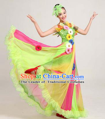 Traditional Chinese Modern Dancing Costume, Women Opening Dance Costume, Modern Dance Dress for Women