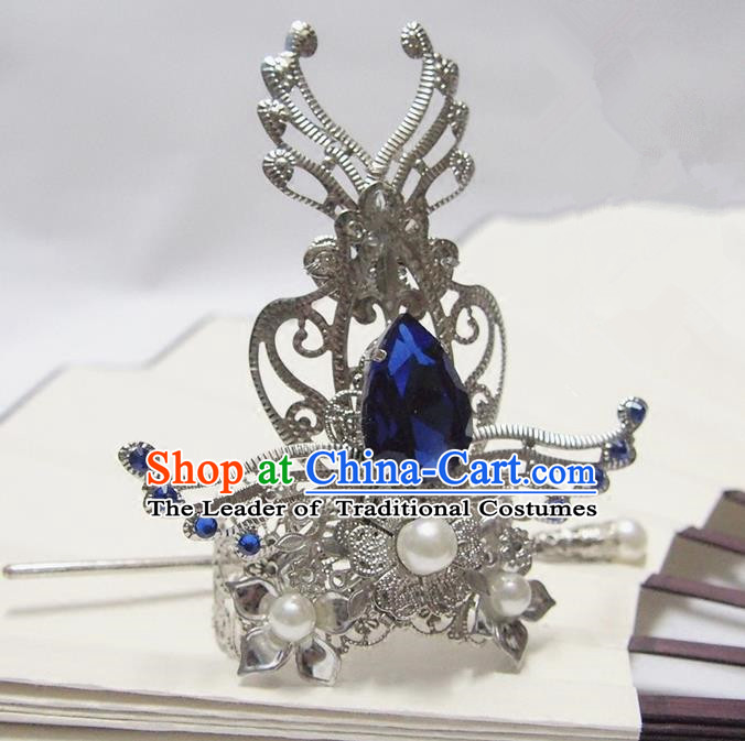 Traditional Chinese Ancient Jewelry Accessories, Ancient Chinese Han Dynasty Imperial Princess Hairpin, Prince Beam Hair Crown Hair Tuinga for Women for Men