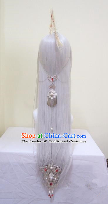 Traditional Chinese Ancient Jewelry Accessories, Ancient Chinese Imperial Princess Headwear Wedding Long Tassels Hair Step Shake, China Wedding Bride Hairpin for Women