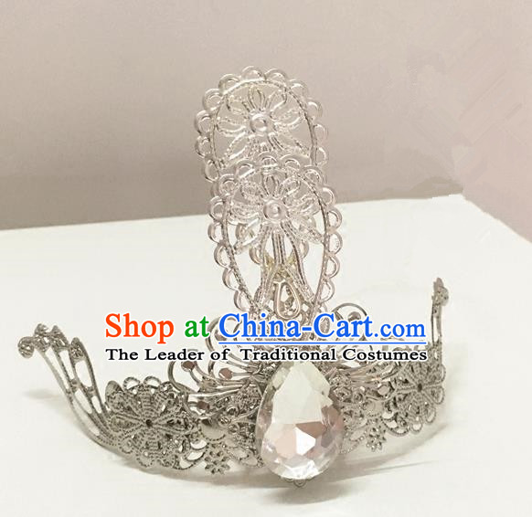 Traditional Chinese Ancient Jewelry Accessories, Ancient Chinese Han Dynasty Imperial Princess Hairpin, Prince Beam Hair Crown Hair Tuinga for Women
