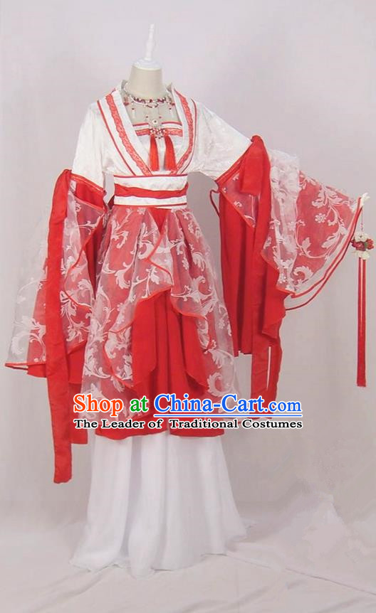 Traditional Chinese Ancient Princess Costumes, Chinese Tang Dynasty Imperial Princess Clothes Complete Set for Women